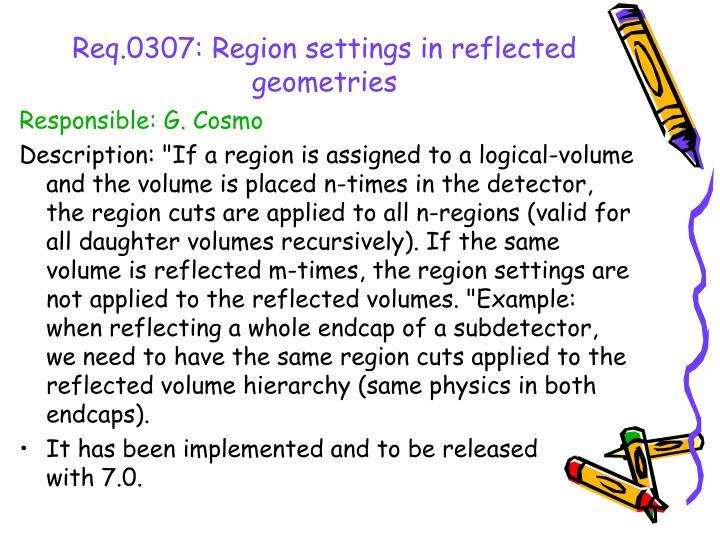 Req.0307: Region settings in reflected geometries