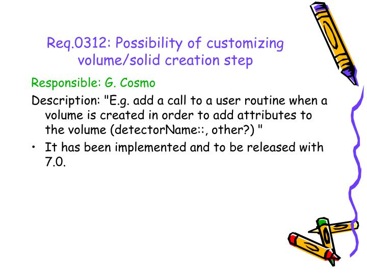 Req.0312: Possibility of customizing volume/solid creation step