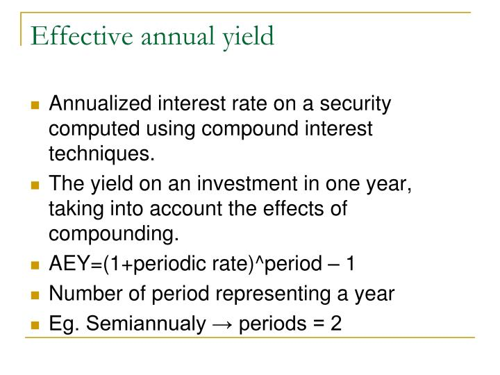 bond and effective annual rate