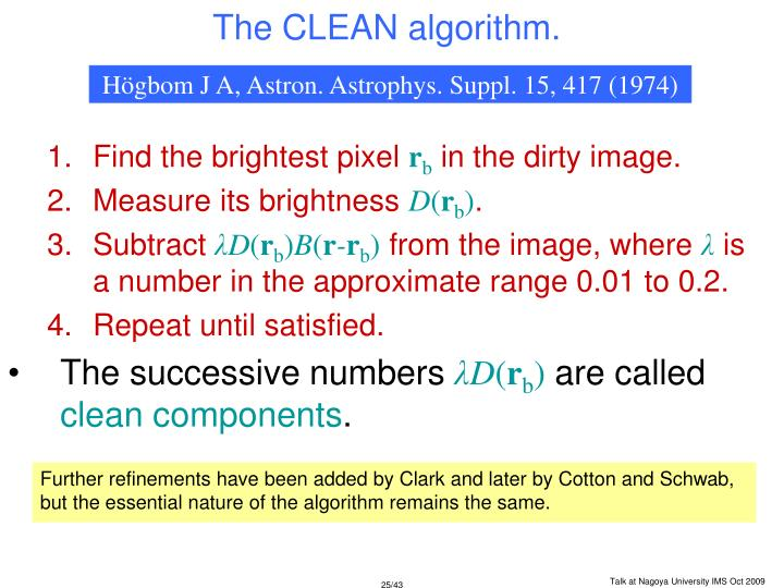 The CLEAN algorithm.