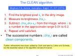 the clean algorithm