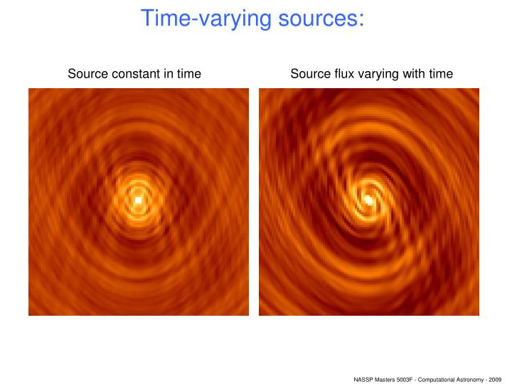 Time-varying sources: