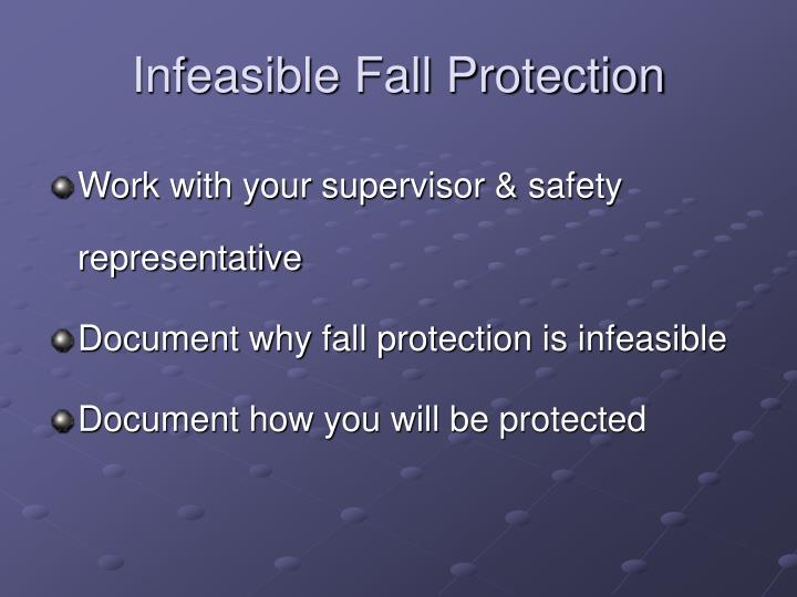 Infeasible Fall Protection