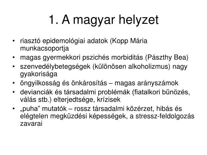 1. A magyar helyzet