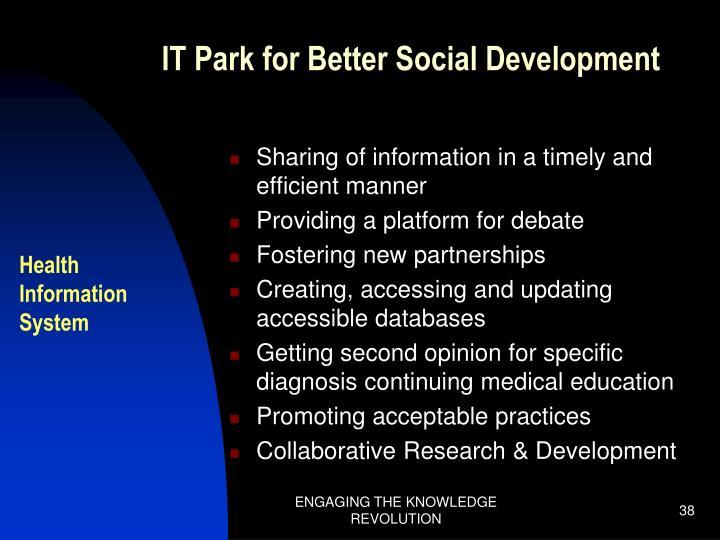 IT Park for Better Social Development