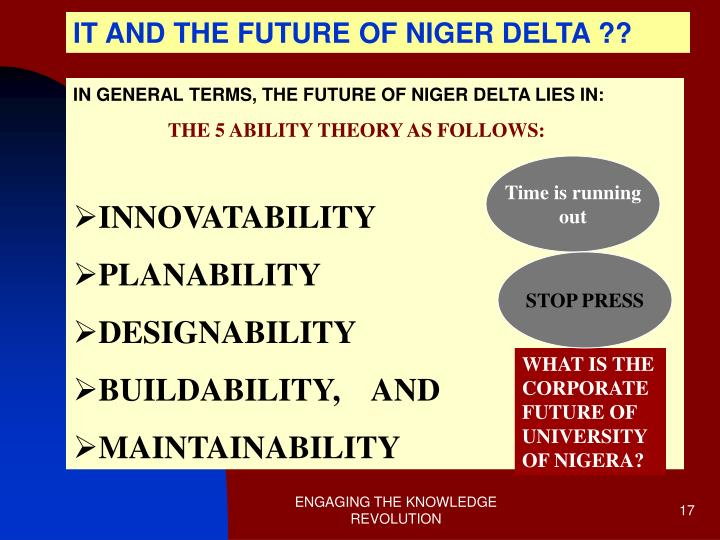 IT AND THE FUTURE OF NIGER DELTA ??