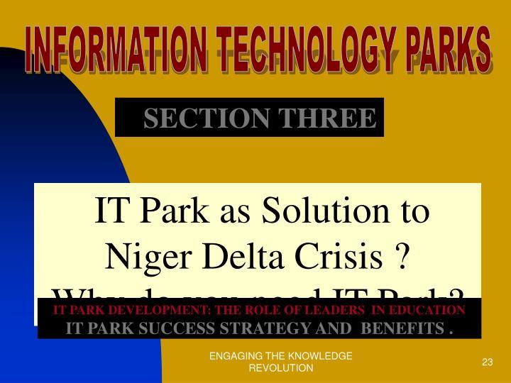 INFORMATION TECHNOLOGY PARKS