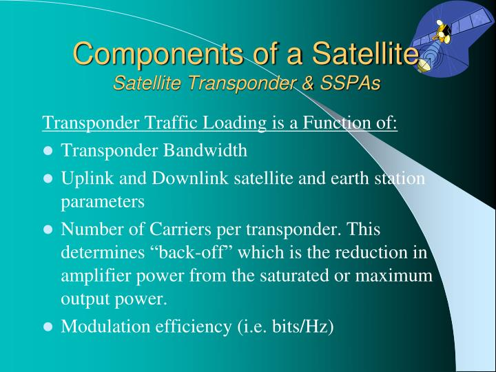 Components of a Satellite
