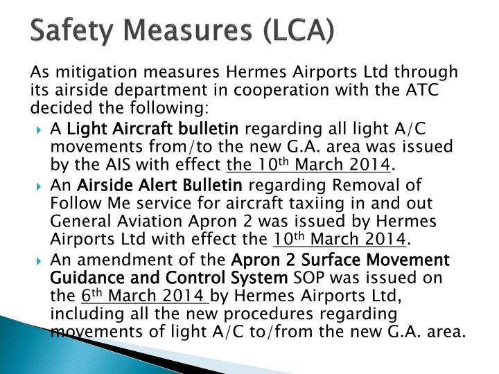 Safety Measures (LCA)