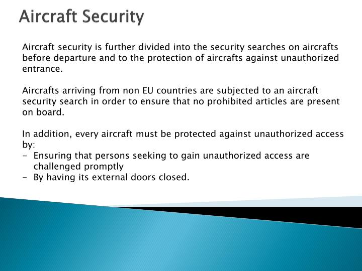 Aircraft Security