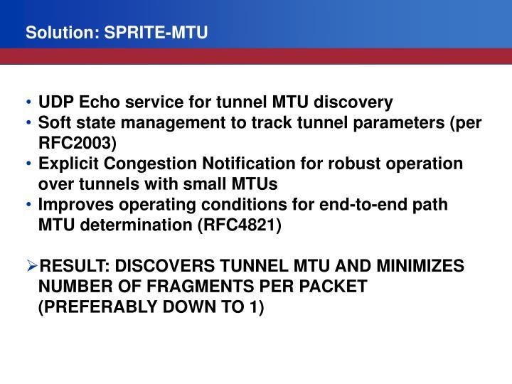 Solution: SPRITE-MTU