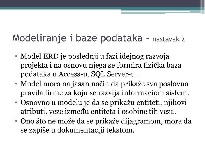 Modeliranje i baze podataka -