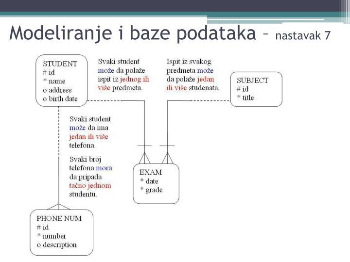 Modeliranje i baze podataka –