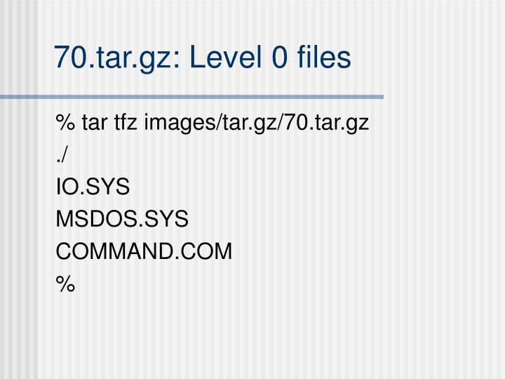 70.tar.gz: Level 0 files