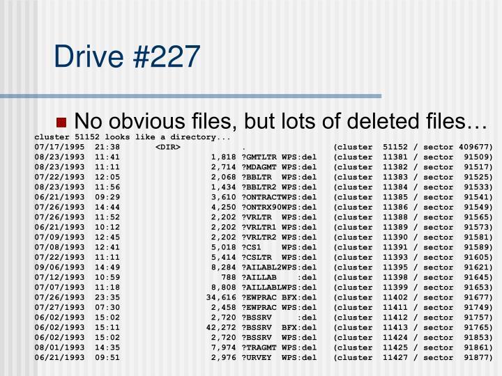 Drive #227