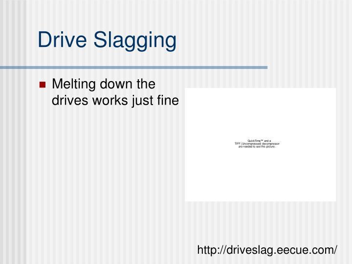 Drive Slagging