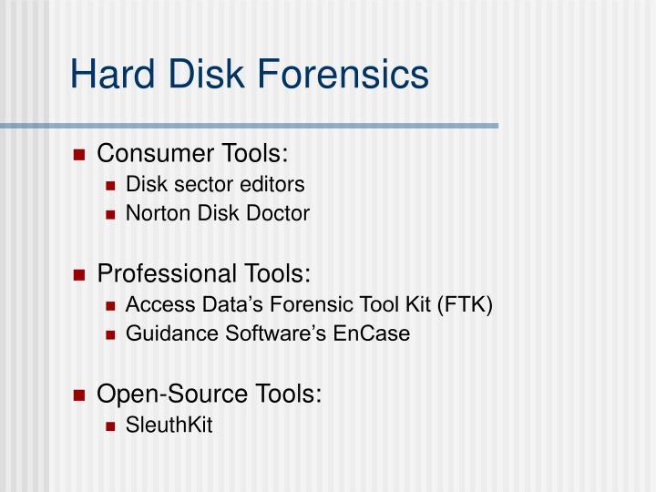 Hard Disk Forensics