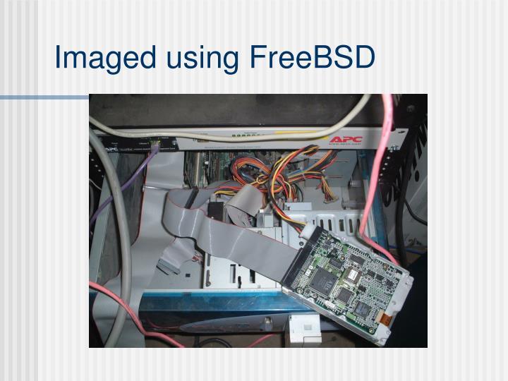 Imaged using FreeBSD