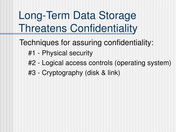 Long-Term Data Storage Threatens Confidentiality