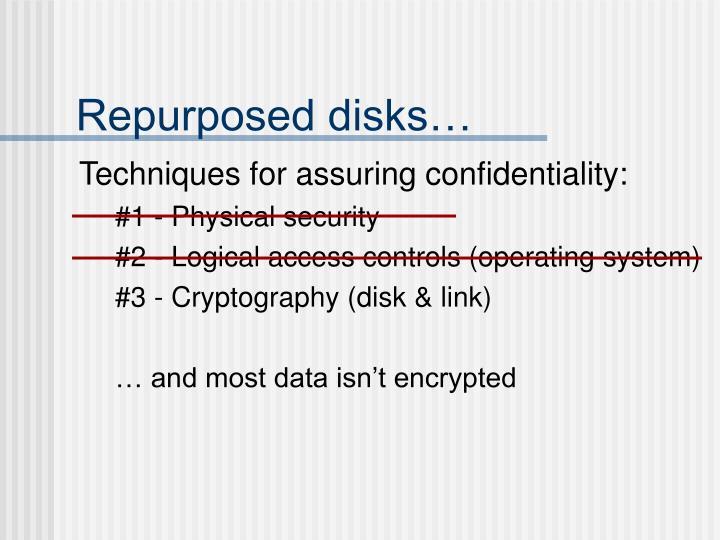 Repurposed disks…