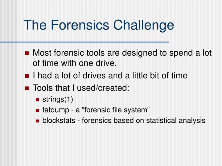 The Forensics Challenge
