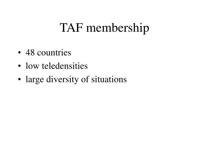 TAF membership