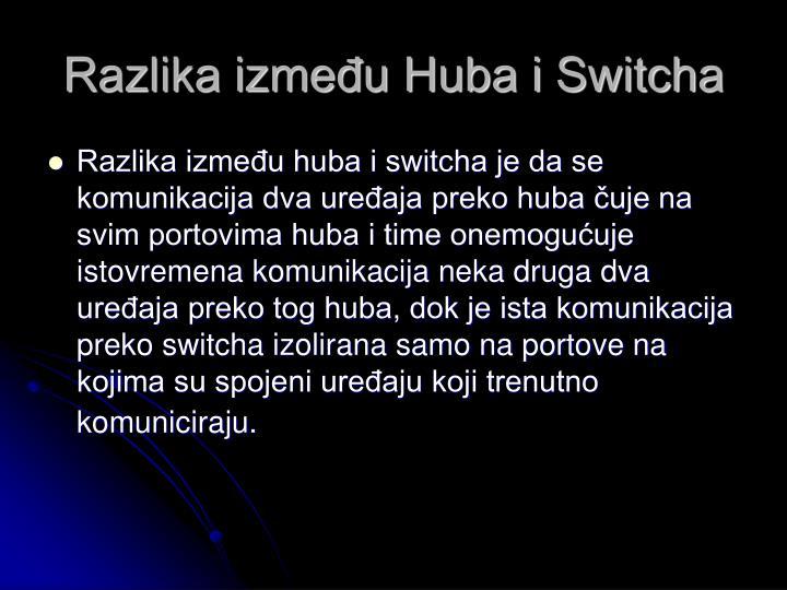 Razlika između Huba i Switcha