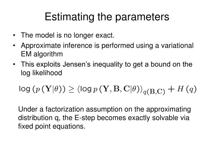 Estimating the parameters
