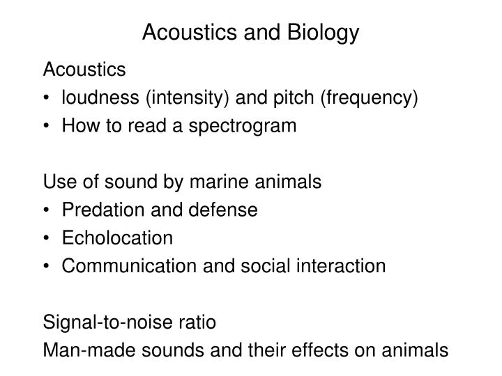 Acoustics and Biology
