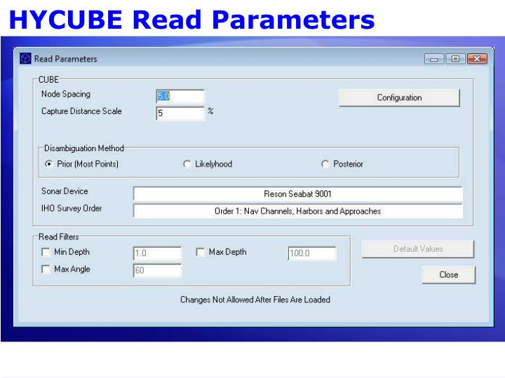 HYCUBE Read Parameters