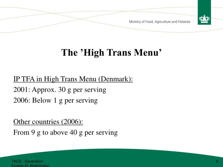 The 'High Trans Menu'