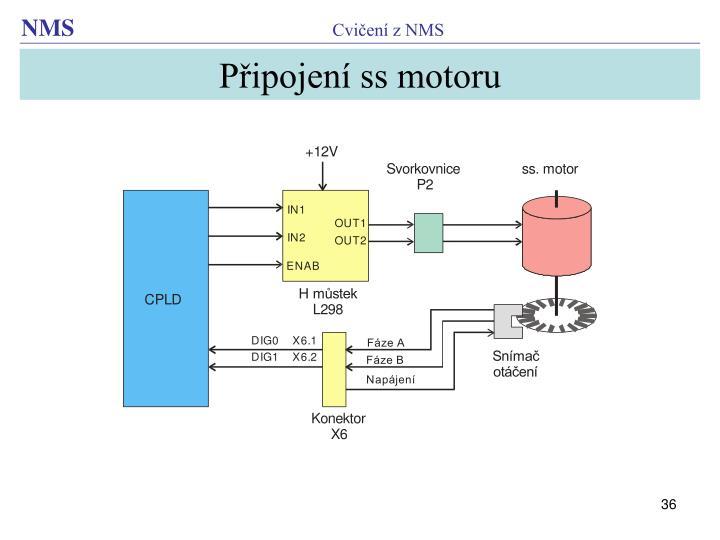 Připojení ss motoru