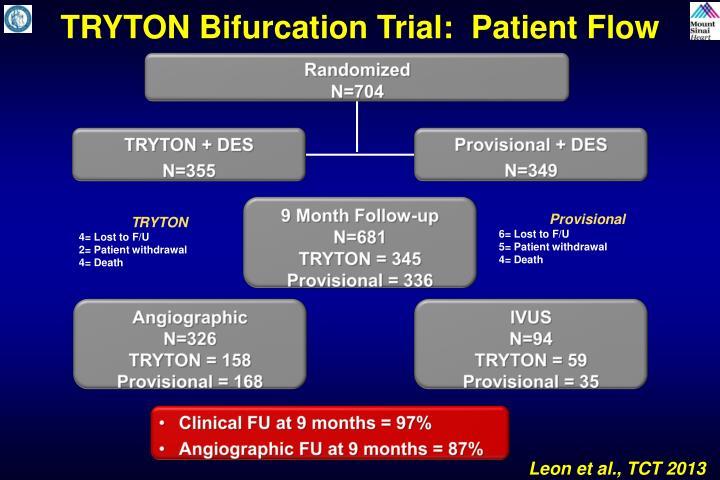 TRYTON Bifurcation Trial:  Patient Flow