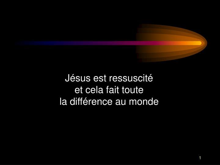 Jsus est ressuscit