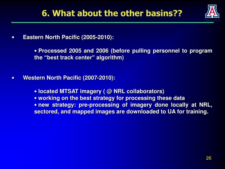 6. What about the other basins??