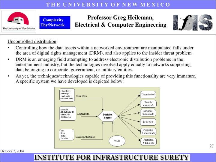 Professor Greg Heileman,