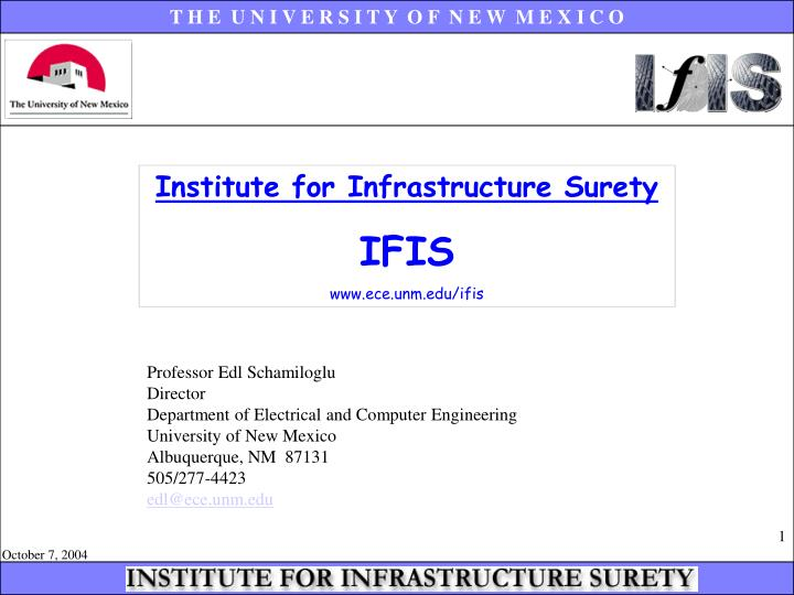 Institute for Infrastructure Surety
