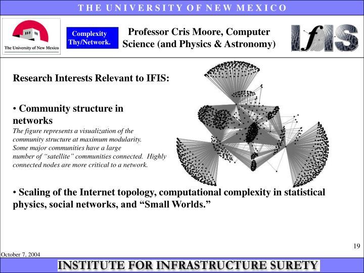 Professor Cris Moore, Computer