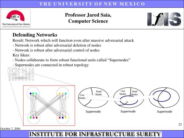 Professor Jared Saia,