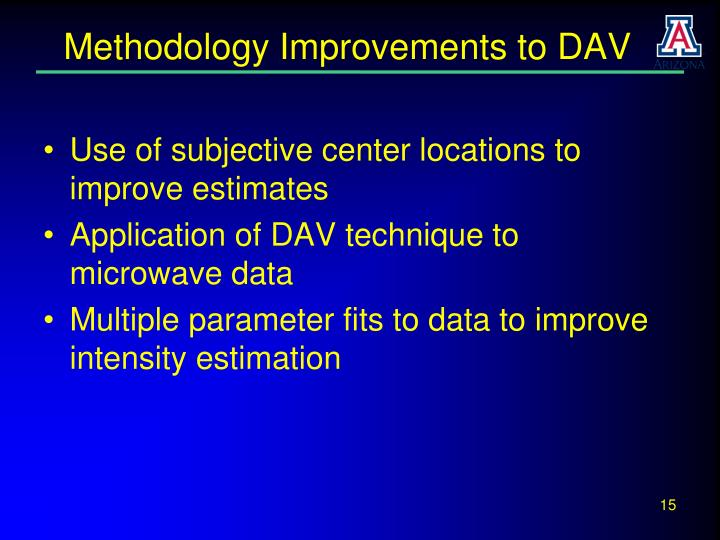 Methodology Improvements to DAV