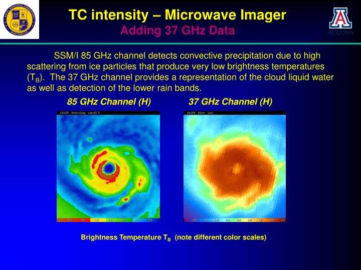 TC intensity – Microwave Imager