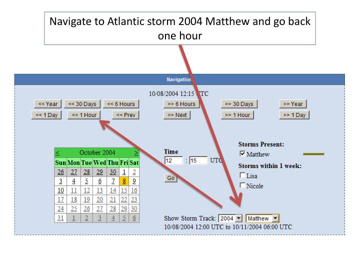 Navigate to Atlantic storm 2004 Matthew and go back