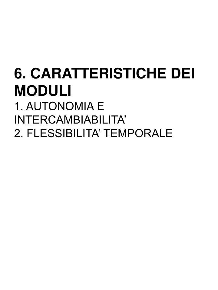 6. CARATTERISTICHE DEI MODULI