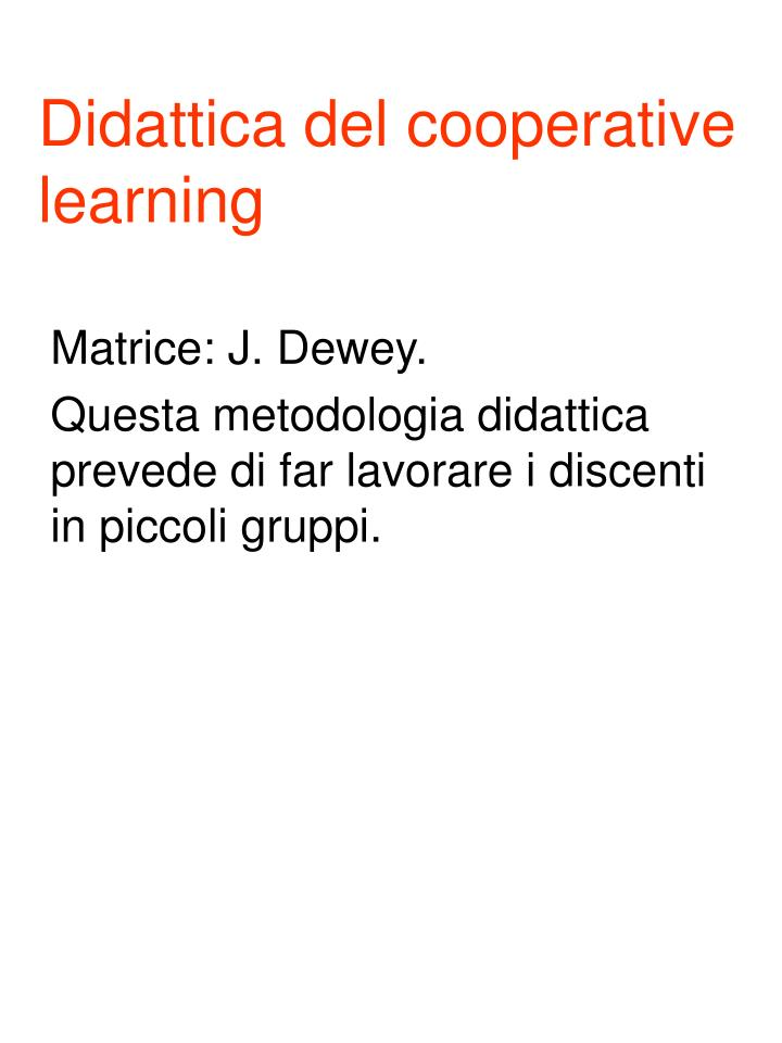 Didattica del cooperative learning