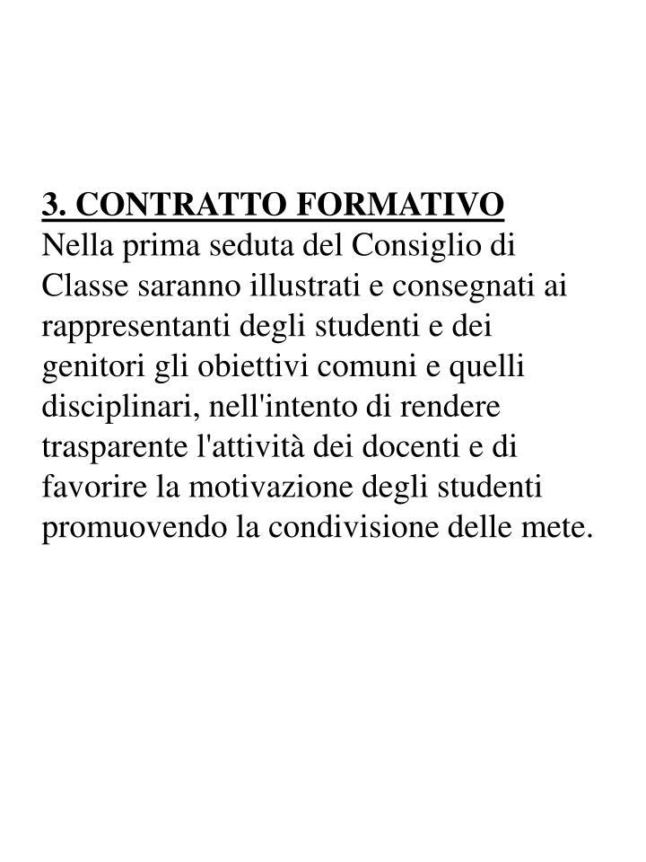 3. CONTRATTO FORMATIVO