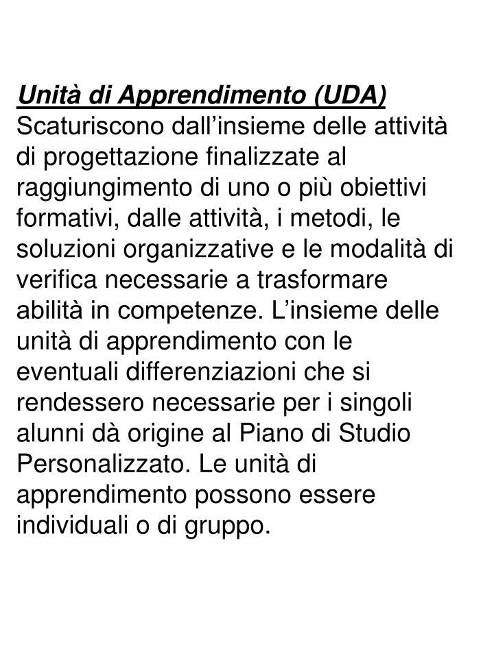 Unità di Apprendimento (UDA)
