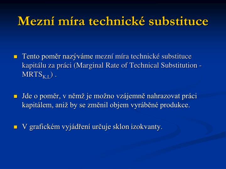 Mezní míra technické substituce
