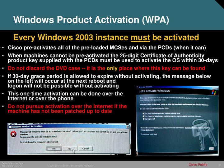 Windows Product Activation (WPA)
