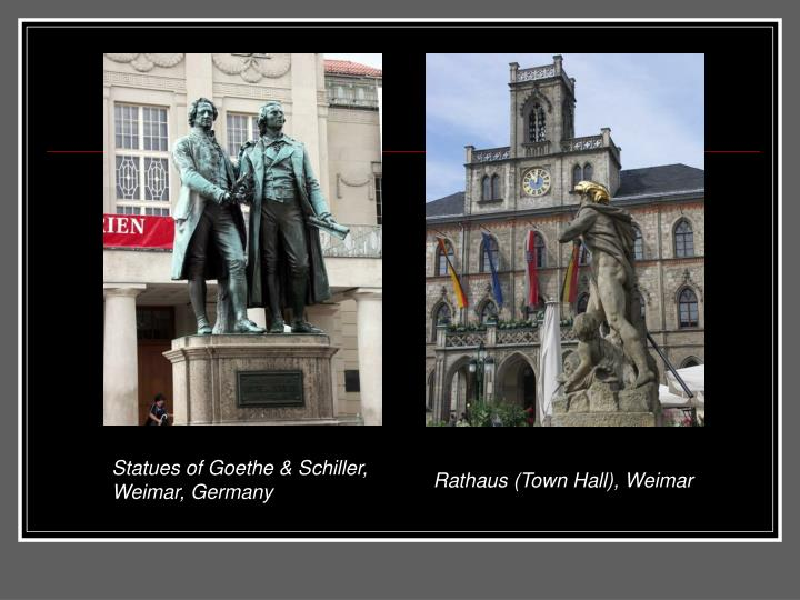 Statues of Goethe & Schiller, Weimar, Germany
