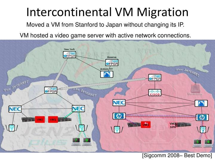 Intercontinental VM Migration